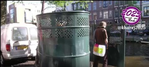 دستشویی عمومی غربی ها !