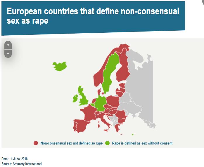 کشورهایی که تجاوز جنسی در آنها از نظر قانون جرم نیست اتحادیه اروپا کشورهای اروپایی