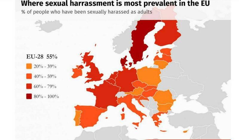 آمار تجاوز جنسی در کشورهای اروپایی